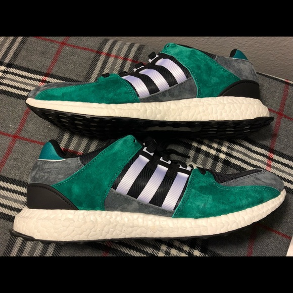 buy online 16714 3e244 Adidas eqt support ultra boost green black sz13